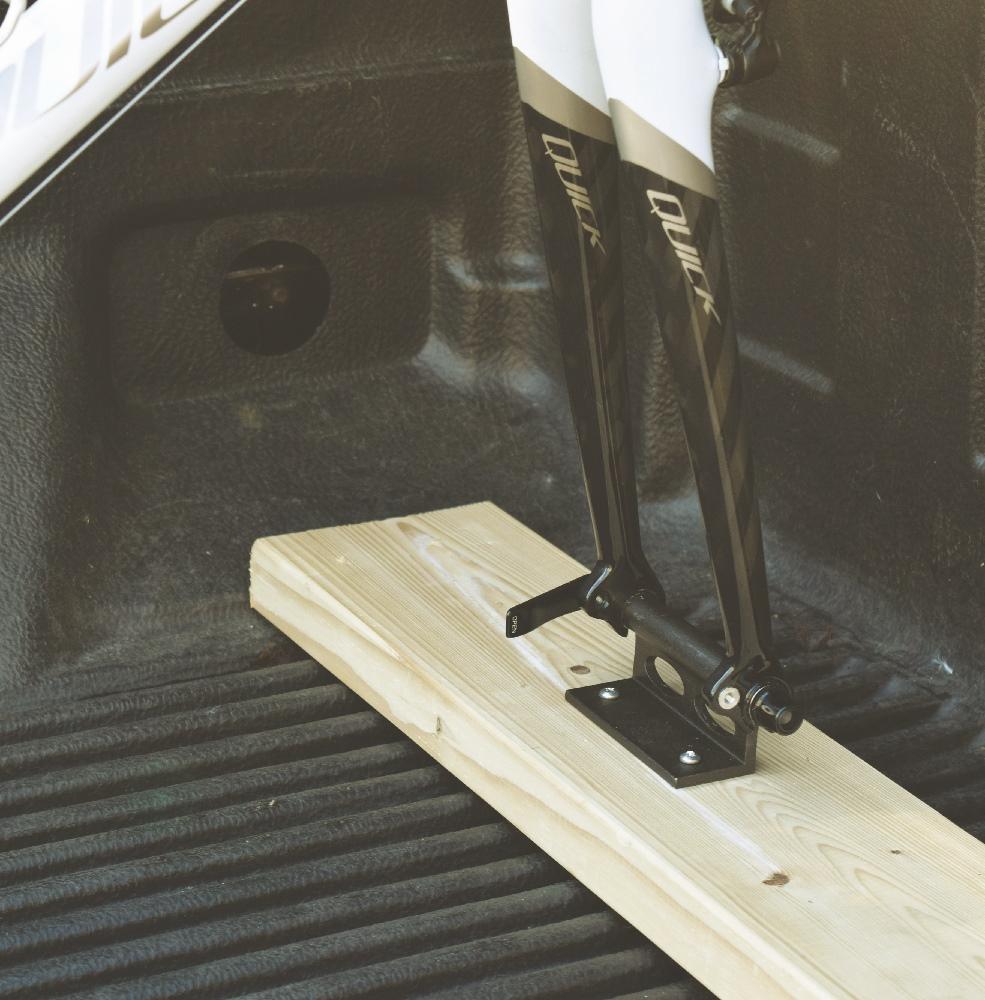 Truck Bed Dimensions >> Fork Block QR - Univ Fork Mount Bike Carrier (for truck bed)