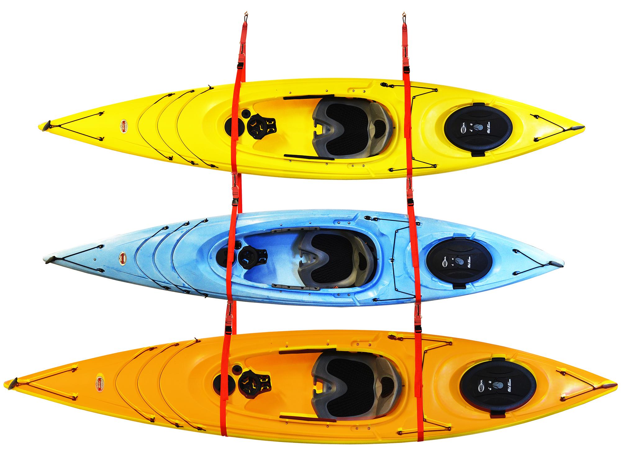 SlingThreeTM Triple Kayak Storage System